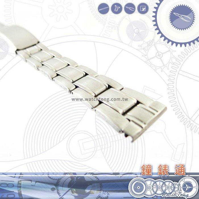 【鐘錶通】板折帶 金屬錶帶 AB13S -  14mm
