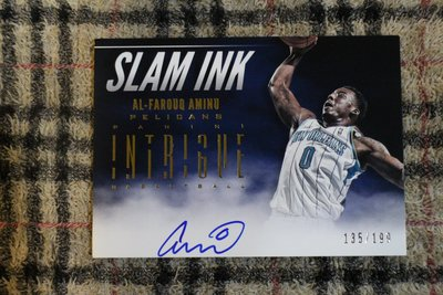 Al-Farouq Aminu 12-13 Intrigue SlamINK 拓荒者先發前鋒 限量199張灌籃親筆簽名卡