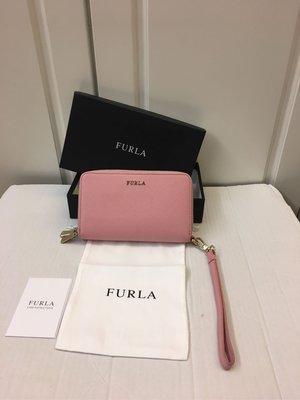 🈹️🈹️$1500 99% NEW FURLA 粉紅色真皮中型銀包 100%真貨 ($2900包郵,不退換)