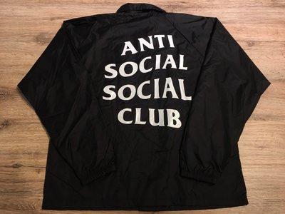 【MASS】ANTI SOCIAL SOCIAL CLUB COACH JACKET 教練夾克 黑色 現貨