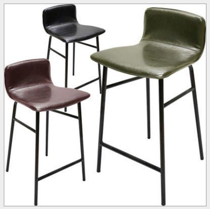 【南洋風休閒傢俱】造型吧椅系列 皮爾皮革吧檯椅 復刻吧檯椅 簡約吧檯椅  利