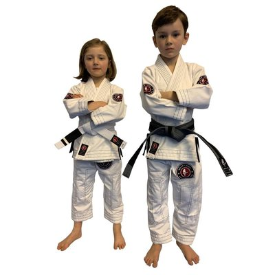 【神拳阿凱】Grab & Pull ORIGINAL KIDS GI M4 白色 柔術衣 兒童道服 送白色道帶