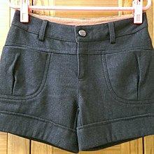 【木風小舖】腰間配色 雙口袋 毛料褲*黑