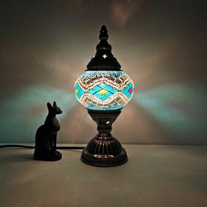[秀衣閣] 限量版土耳其復古浪漫小臺燈臥室書房咖啡廳餐廳酒店民宿裝飾臺燈