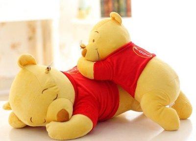 【楓小舖】小熊維尼趴姿抱枕 小熊維尼抱枕 小熊維尼玩偶(此單大號60CM)