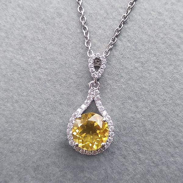 ☆采鑫天然寶石☆ ~晶瑩璀璨~寶石級黃水晶墜~極美巧緻設計款
