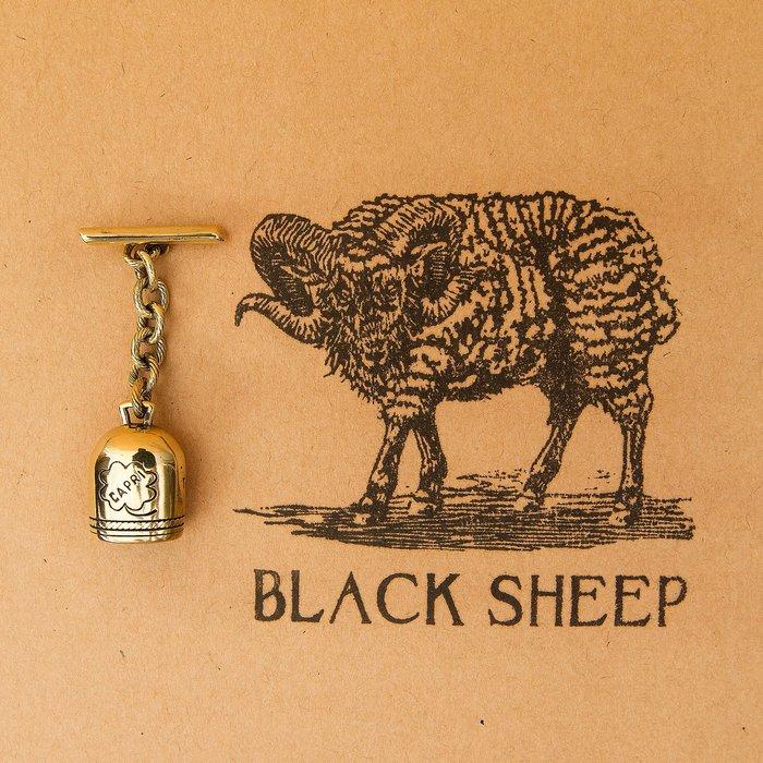 黑羊選物 二戰飛行員 幸運小鈴鐺 皮衣配件 黃銅製 招運小物 可搖響 潮流小物 復古 美軍 老味 養牛 哈雷 重機 皮衣