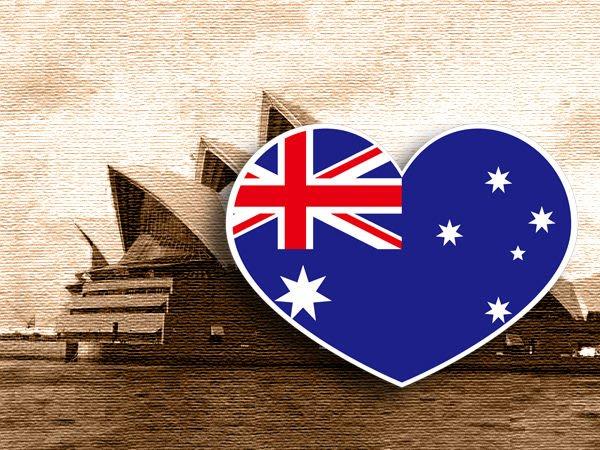 【衝浪小胖】澳洲國旗抗UV、防水愛心形登機箱貼紙/Australia/澳大利亞/各國都可客製