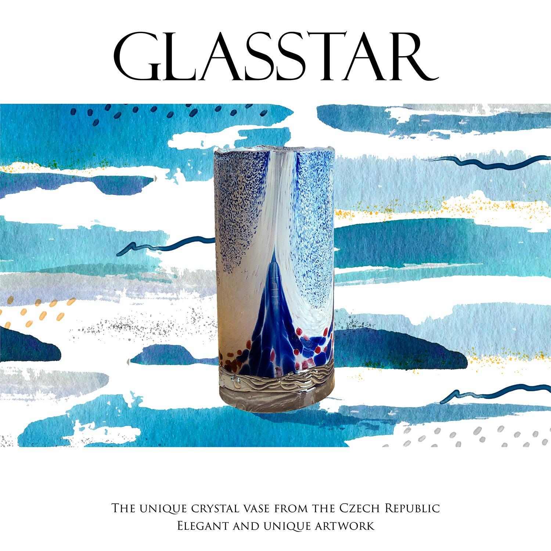 GLASSTAR 捷克手工花瓶(B4)