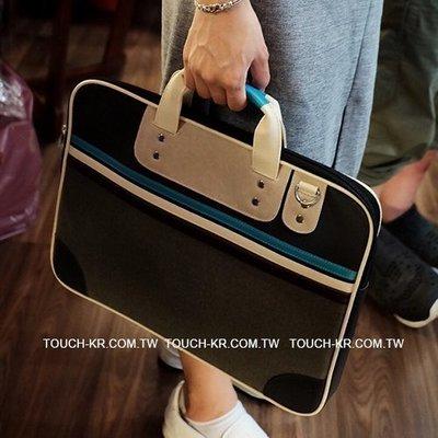 TOUCH-KR 正韓 原創設計手提包 電腦包 筆電包 公事包│可容納 Apple 15吋 MacBook│z7177