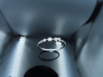 %玉承珠寶%輕珠寶系列14k白K金精緻天然鑽繁星點點設計鑽戒/尾戒DR10(現貨1)