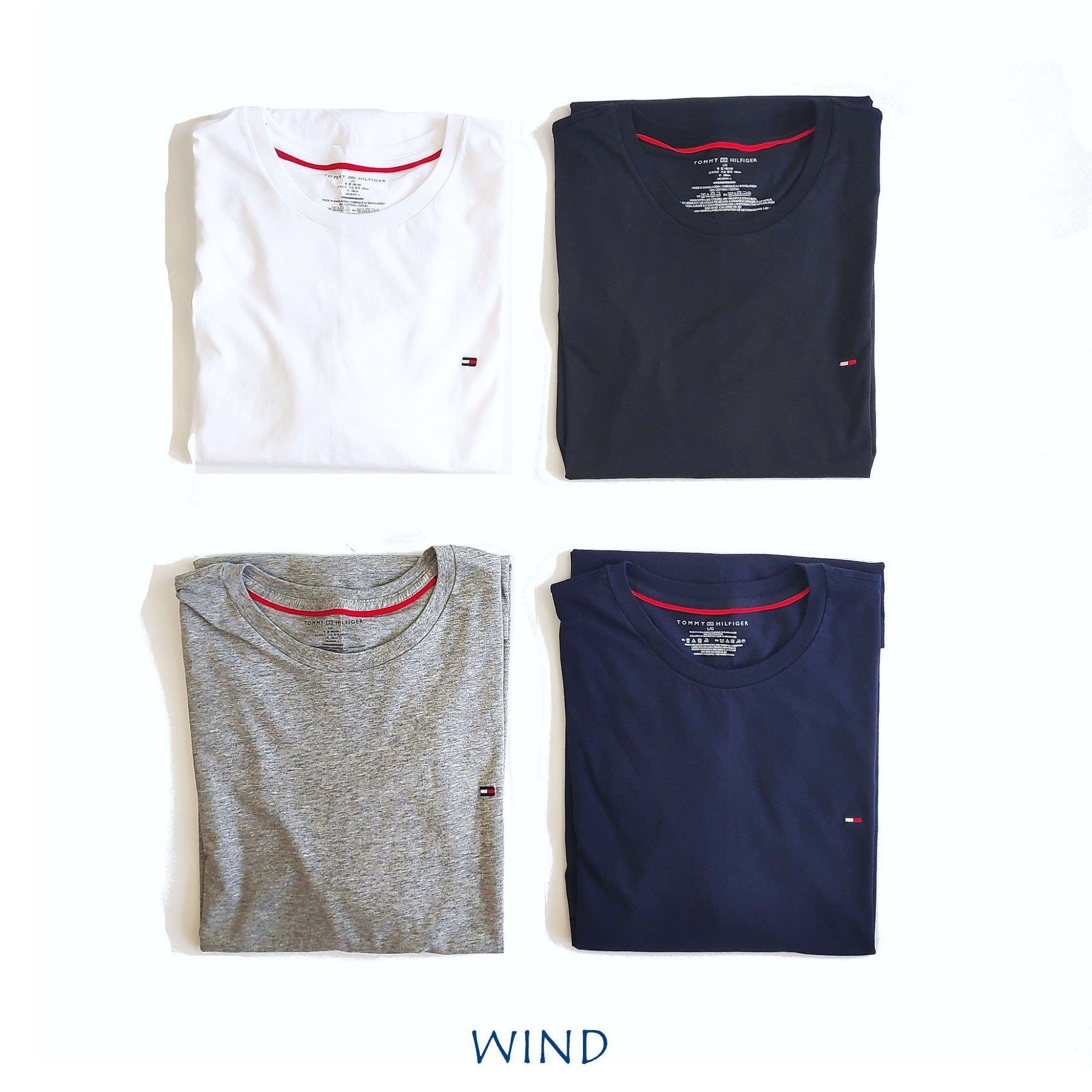 【Wind 】美國公司貨 Tommy hilfiger  四色  小LOGO  成人版  短T  現貨