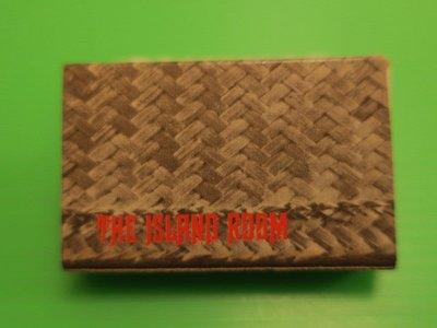 香港火柴盒-早期香港中環富麗華酒店THE ISLAND ROOM火柴盒(無火柴)