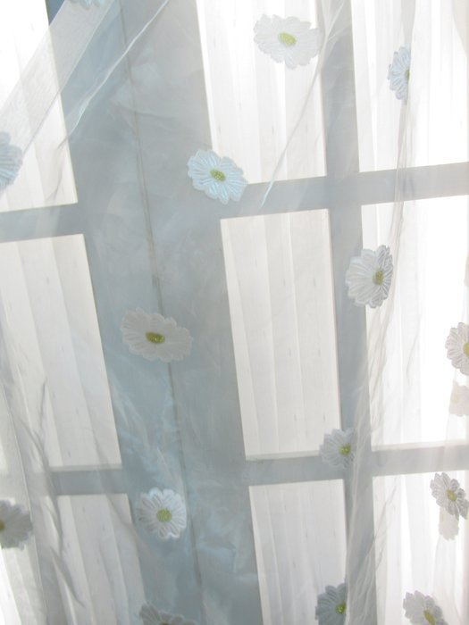 [W058]窗簾 窗紗 No.1小白花透紗  特價出清 無接縫紗 簡約 甜美 兒童