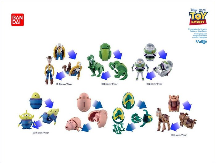 Artlife @ BANDAI PIXAR TOY STORY 変形  トイストーリー 玩具總動員 變形蛋
