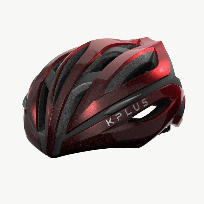 【三鐵共購】【KPLUS】SUREVO S系列漸層色公路競速單車安全帽-熔岩紅