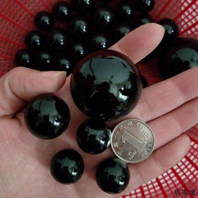 雨花石 底砂 砂石 造景 裝飾 園藝石純黑色拋光水晶球鵝卵石狀黑色雨花水晶石天然鎮宅風水石頭