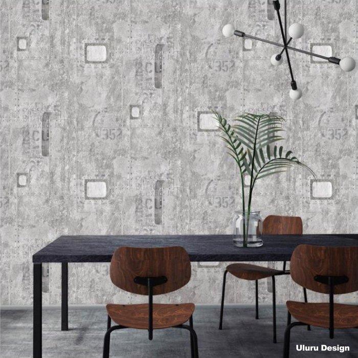 【韓國進口】工業風壁紙 DIY壁紙 水泥 鐵件 英文字母 壁紙 北歐風格 壁紙 咖啡廳/早午餐/酒吧 設計師款 韓國壁紙