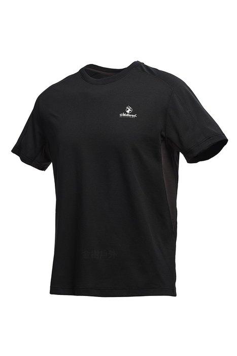 Wildland 荒野 男 彈性條紋圓領上衣 抗紫外線/彈性纖維/吸濕排汗/休閒衫/圓領T 0A71622