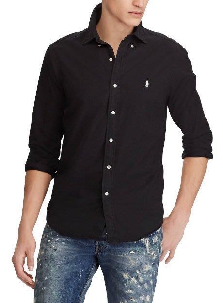 POLO Ralph Lauren 長袖 襯衫 現貨 小馬 成人 黑色