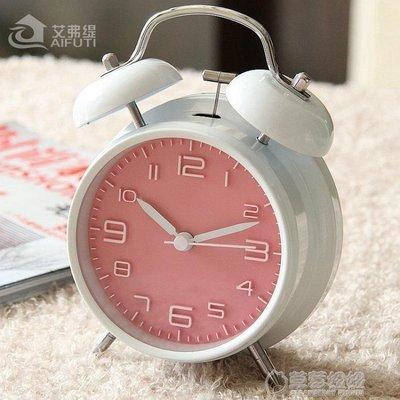 鬧鐘出口日韓可愛金屬鬧鐘創意靜音夜燈4寸 時尚數字學生床頭鬧鐘簡約    -免運