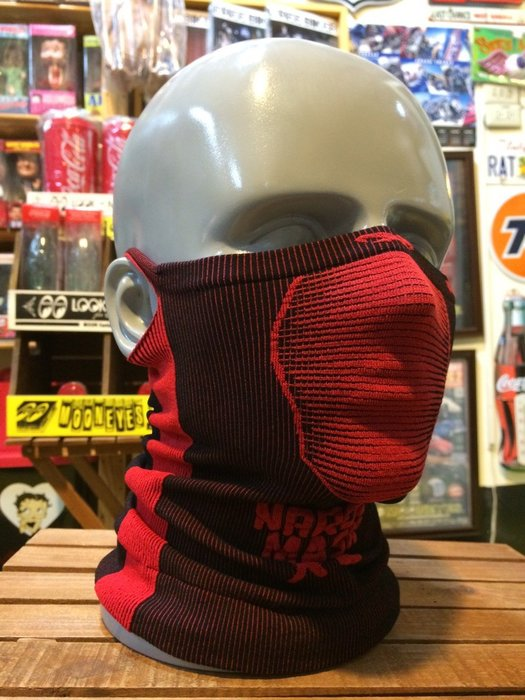 (I LOVE樂多)Naroo Mask 紅色長版X5騎行運動 面罩 單車 哈雷 越野 滑胎 偉士 VESPA Cafe