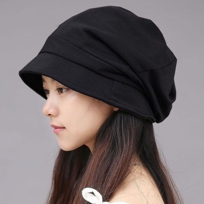 韓版大頭圍顯臉小盆帽光頭月子帽LJ5148
