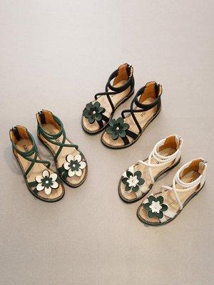 女童涼鞋新款韓版夏季時尚小女孩公主鞋兒童涼鞋女軟底羅馬鞋