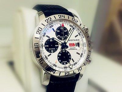 準時鐘錶 Chopard Mille Miglia GMT Chrono(收購勞力士.ROLEX.二手錶.名錶高價收購)