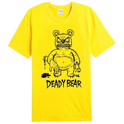 【Dirty Sweet】Deady Bear短袖T恤-9色 這樣才熊麻吉 趣味 搖滾 硬派 設計 real 筒T 美國
