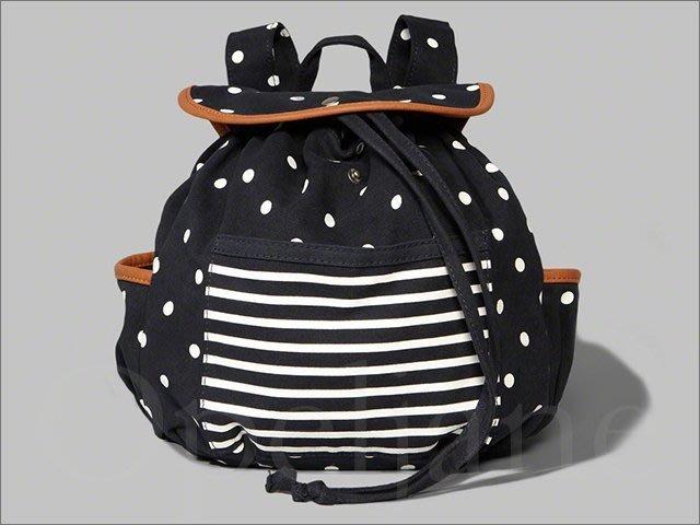 特價999元 Abercrombie & Fitch 女孩款 A&F AF麋鹿條紋海軍藍可愛小款後背包 愛Coach包包