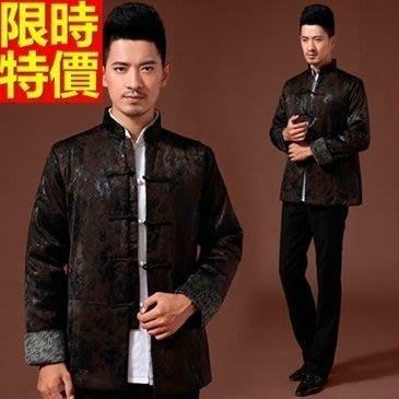 唐裝 中山裝 中式男裝(單上衣)-加厚保暖透氣中國風復古男西裝外套2色66ac30[上海進口][米蘭精品]