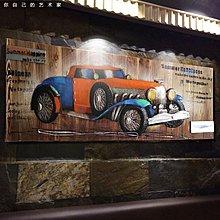 網咖裝飾畫美式複古懷舊木板畫工業風摩托車飯店網吧酒吧牆壁掛畫(兩款可選)