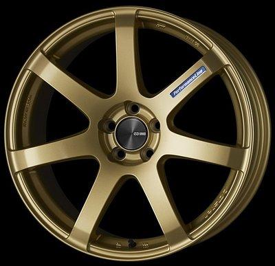 日本 Enkei 鋁圈 Performance Line PF07 金色 18吋 19吋 100 114 五孔