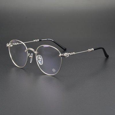 鏡框日本手造正品克羅心眼鏡框架 純鈦復古圓框眼鏡 張翰明星同款