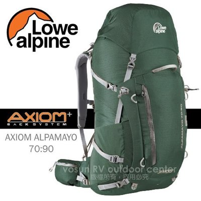 RV城市【英國 LOWE ALPINE~送】AXIOM ALPAMAYO 70:90 輕量健行登山背包 FBP60CR