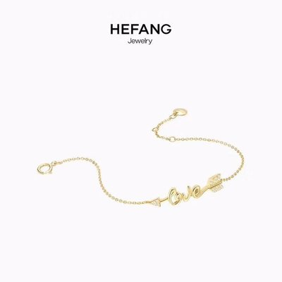 ╭☆包媽子店☆HEFANG Jewelry love情詩手鏈 925純銀