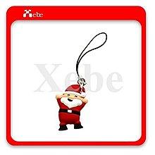 療癒系聖誕老人手機吊飾(舉手) - 聖誕禮品 聖誕交換禮物 各式客製化造型禮贈品 鑰匙圈 防塵塞