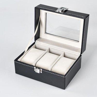 皮質簡約手錶收納盒整理盒帶鎖女款歐式男士手錶展示收藏箱