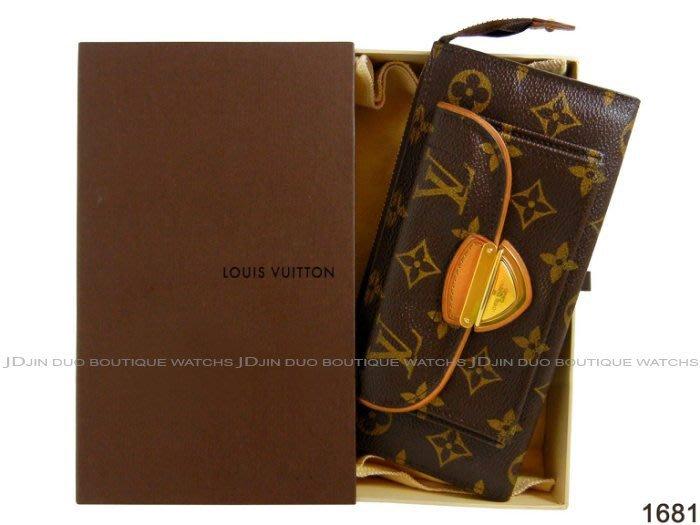 金鐸精品~1681 LOUIS VUUTTON LV 路易威登 M61781 ASTRID 金扣拉鍊長夾 手拿包