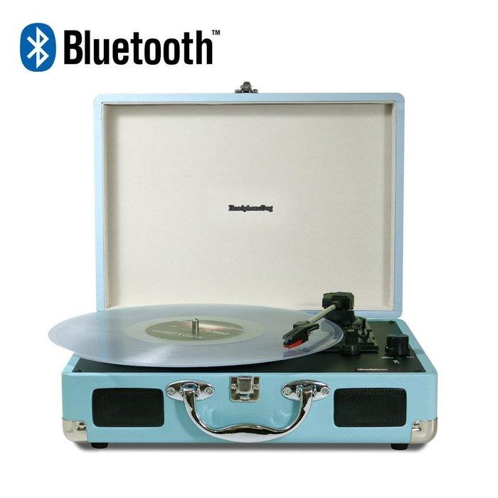 第二代「藍牙」唱片播放器(可連接手機電腦 )台灣公司貨土耳其藍