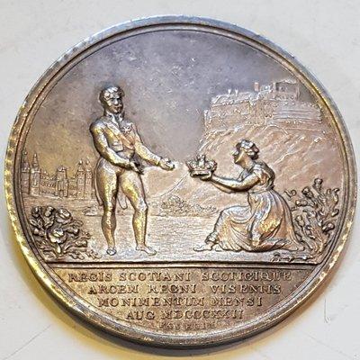 英國銀章1822 UK George IV Visit to Scotland Medal.