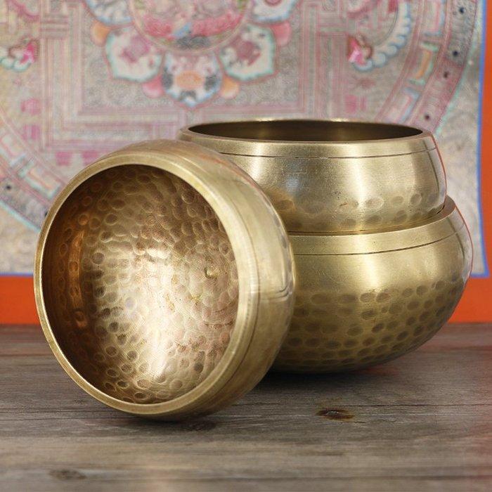 瑜伽用品擺件 尼泊爾手工佛音碗 佛教用品西藏頌缽盂銅磬 銅缽佛音缽  頌缽音療17公分價格