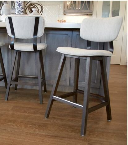 法式餐桌藝術  歐洲仿古高腳吧檯椅