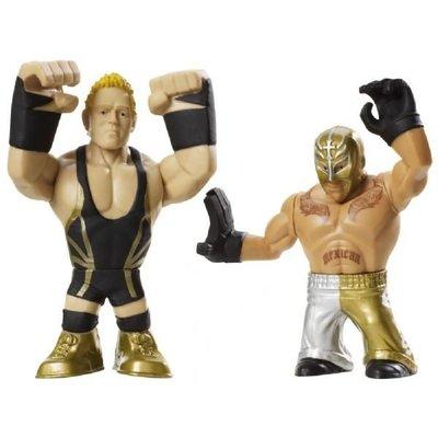☆阿Su倉庫☆WWE摔角 Rumblers Rey Mysterio and Jack Swagger Q版人偶 新上市 熱賣特價中
