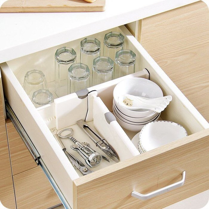 短款可調節抽屜伸縮隔板 收納箱 置物架 收納盒 DIY層架分隔板 伸縮式分類收納擋板