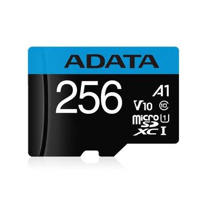 威剛 ADATA 記憶卡 microSD 256G 直購$11060A1藍卡 100M/s 附轉卡 終身保固公司貨