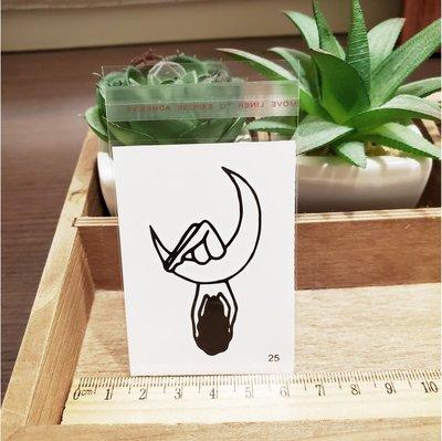 【萌古屋】百態人25單圖 - 男女防水紋身貼紙刺青貼紙 K43