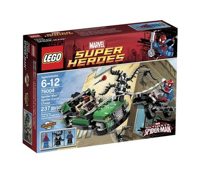 Lego 樂高 蜘蛛俠 Marvel Spider man Venom Super Heroes 76004 Spider-Cycle Chase