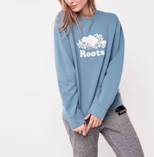 ~☆.•°莎莎~*~~☆~加拿大 ROOTS Boyfriend Crewneck Sweatshirt 棉T